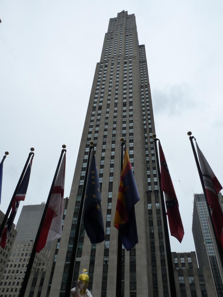Ansicht des Rockefeller Centers, 2017.